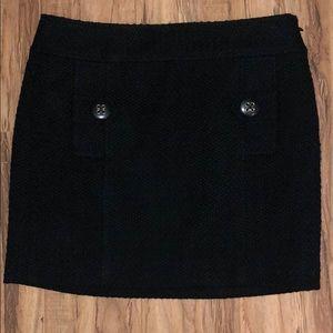 NWT Banana Republic wool blend black skirt Sz. 2